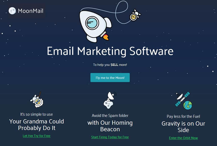 Moon Mail email marketing software
